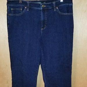 Lauren Ralph Lauren Dark Straight Jeans Sz 12
